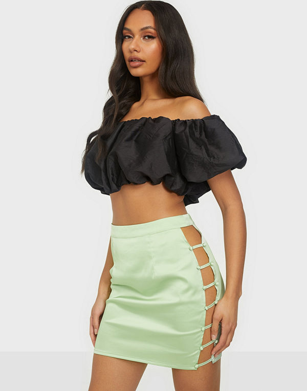Missguided Button Down Side Mini Skirt