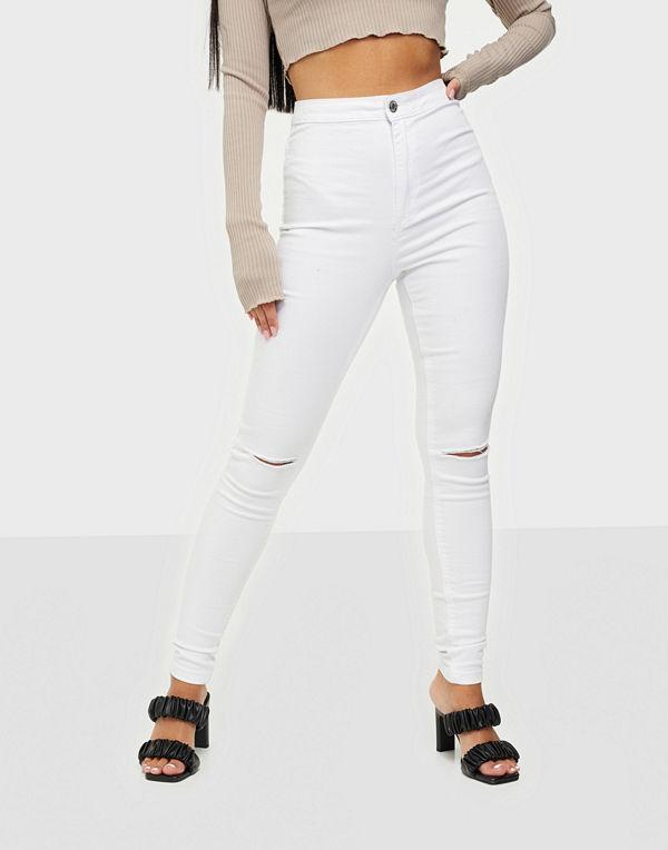 Missguided Vice Highwaisted Slash Knee Skinny Jeans