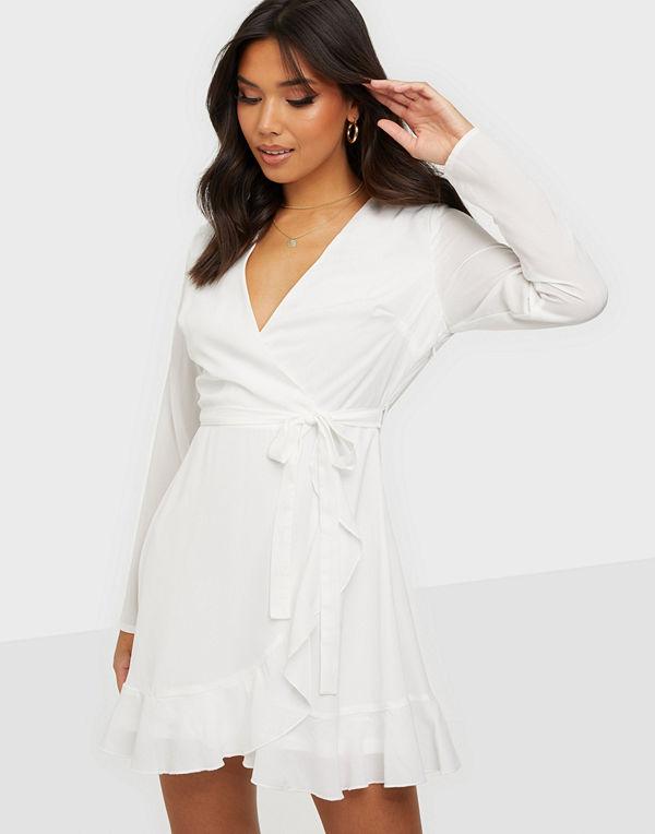Missguided Ruffel Hem Wrap Tea Dress
