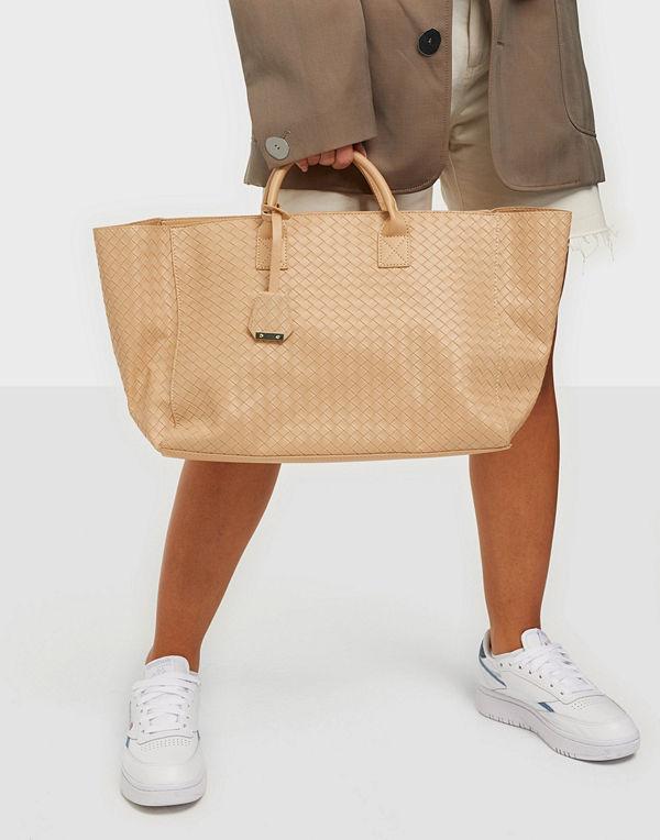 Glamorous beige väska Large Woven Tote Bag
