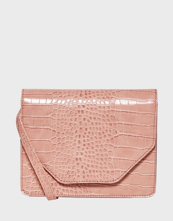 Only beige mönstrad väska ONLUNA SNAKE PU CROSSOVER