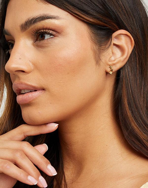 Syster P smycke Snap Earrings Triple Star