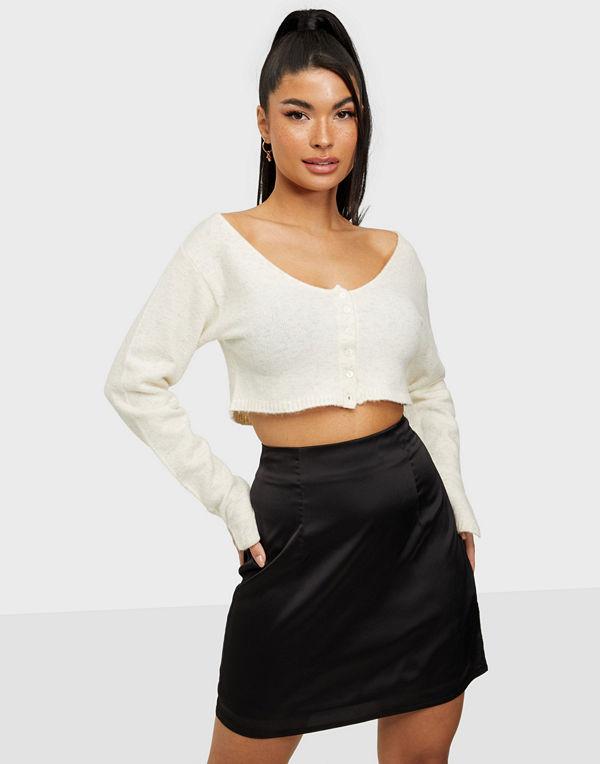 Missguided Satin Mini Skirt