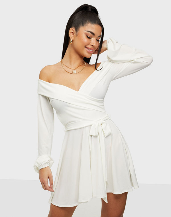 NLY One Flirty Off Shoulder Playsuit