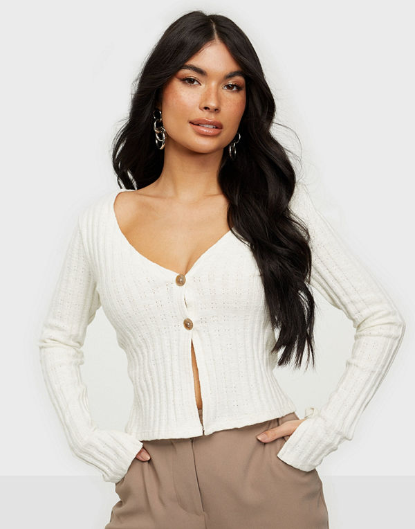 NLY Trend Button Down Cardigan Top