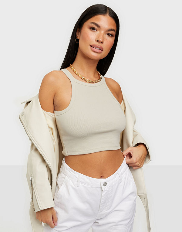 NLY Trend High Neck Crop Top