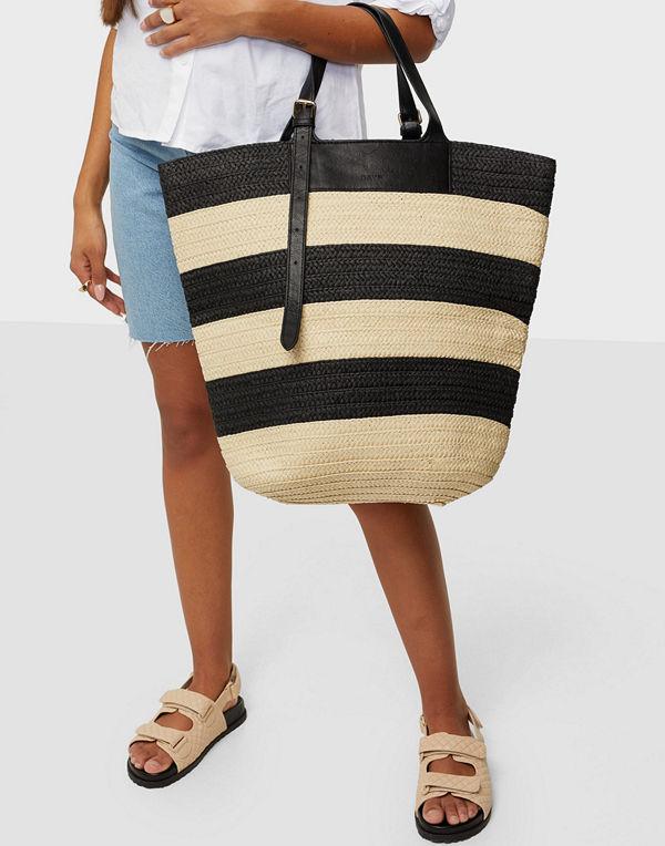 Day Et randig väska Day Blocked Straw Bag