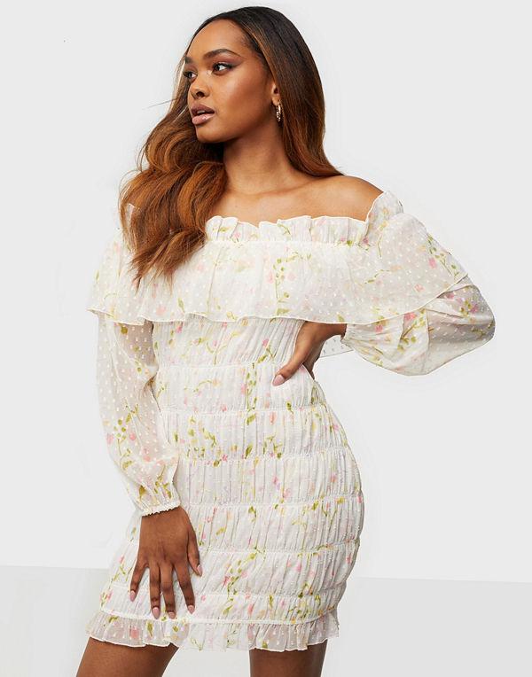 NLY Trend Off Shoulder Smock Dress