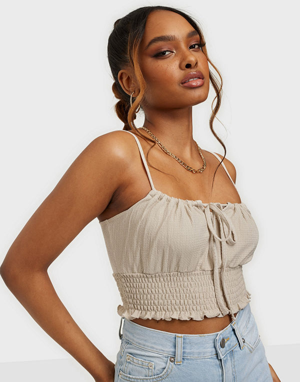 NLY Trend Tie Drawstring Top