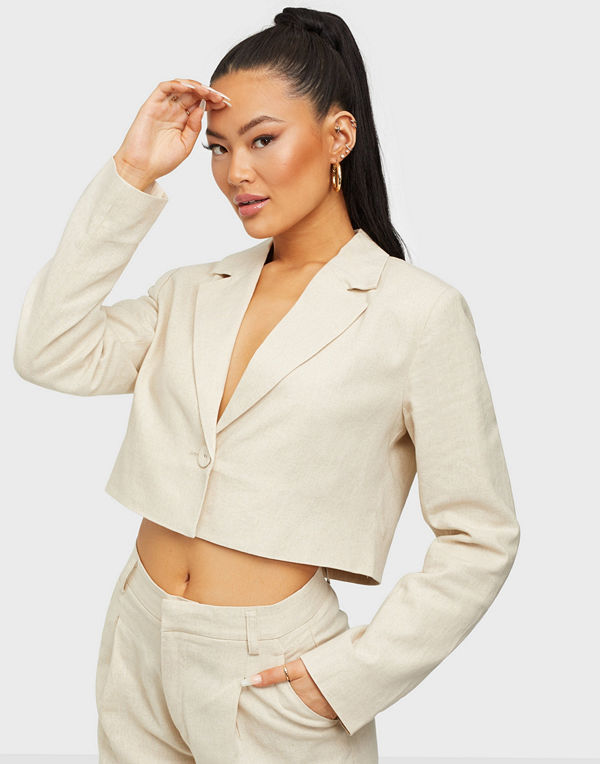Gina Tricot Kylie cropped linen blazer