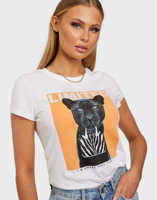 Only ONLVIBE LIFE FIT S/S ANIMAL TOP BOX