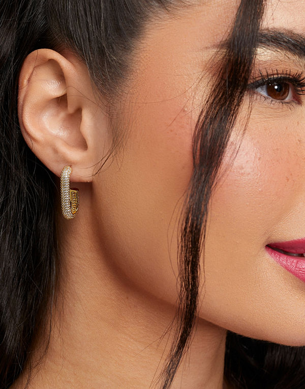 Muli Collection smycke Pave Hook Hoops