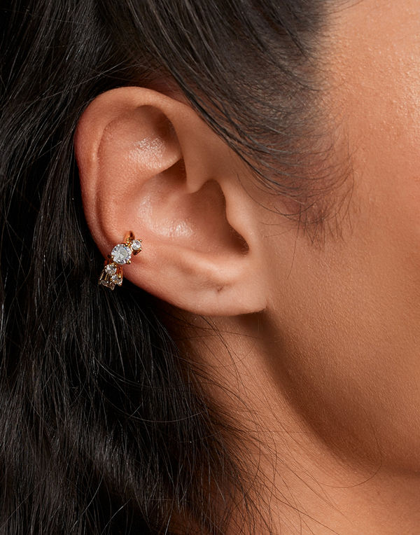 Muli Collection smycke Chunky Zirconia Ear Cuff