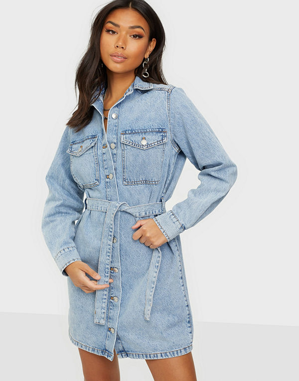 Gina Tricot Denim Shirt Dress