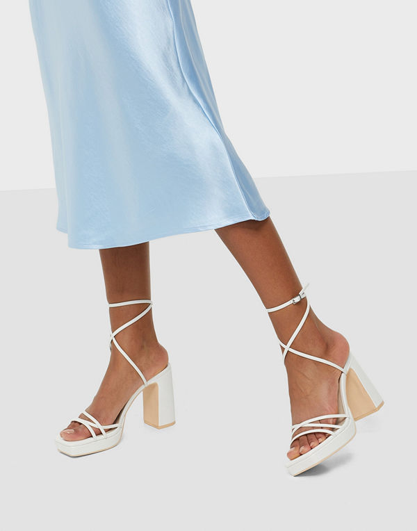 NLY Shoes Strappy Block Platform
