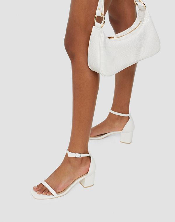 NLY Shoes Square Block Cap Sandal