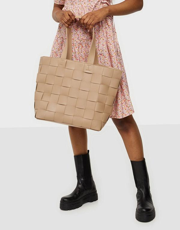 NLY Accessories beige väska Braided Shopper Bag