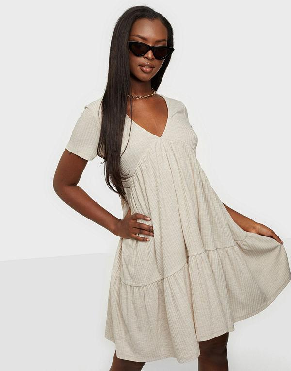 Only ONLNELLA S/S V-NECK BOW DRESS JRS
