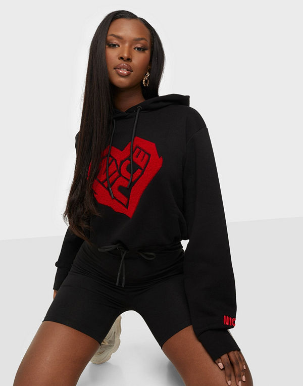 Nicce HEART CROPPED HOODIE
