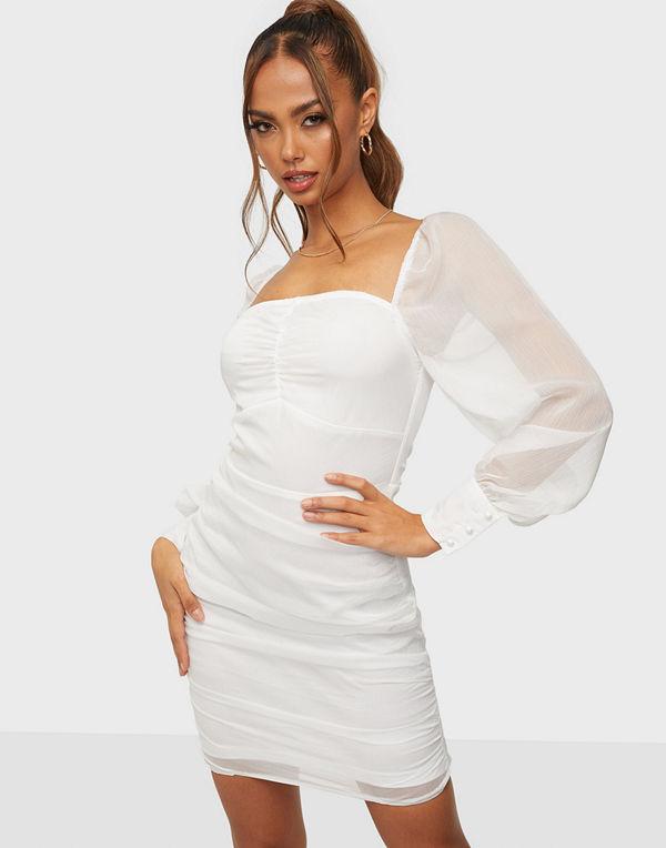 Parisian Sheer Sleeve Mini Dress
