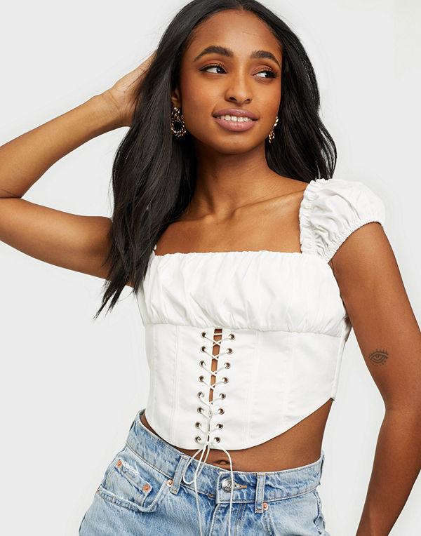 Love Triangle All Cried Out Lace Up Top