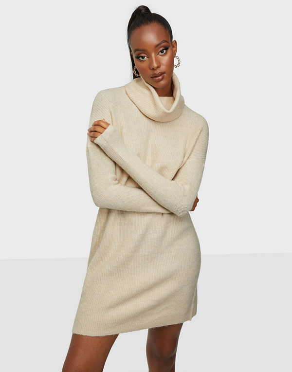 Only ONLJANA L/S COWLNCK DRESS WOOL KNT