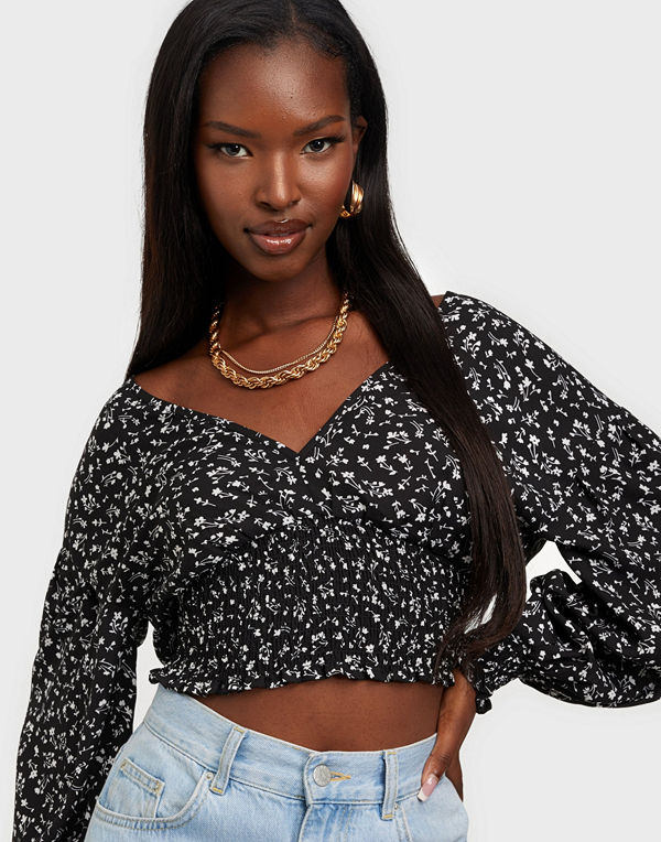 NLY Trend Smocked Waist Blouse