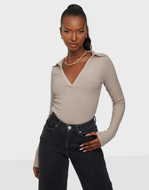 NLY Trend Too Good Collar Top