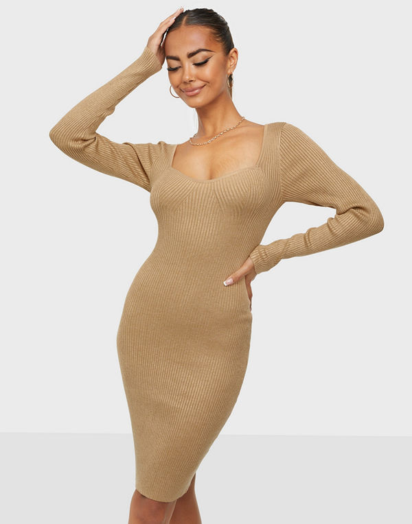 Vero Moda VMWILLOW LS SWEETHEART DRESS GA