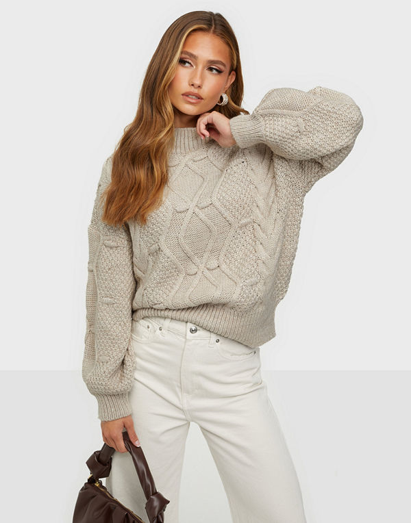 Object Collectors Item OBJKAMMA CABLE KNIT PULLOVER NOOS