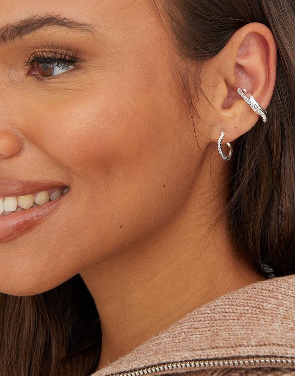 Cornelia Webb smycke DOUBLE EAR CUFF W GRADIENT GREY PAVE WIRE
